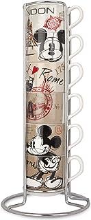 Egan PWM02I/6XY Juego de tazas de café, modelo en The City y Metalrack, porcelana, multicolor, 7 unidades