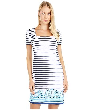 Lilly Pulitzer Rexa Dress (True Navy On The Horizon Stripe Engineered) Women