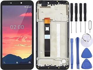 Cellphone LCD Screen Original LCD-skärm och digitizer full montering med ram för Nokia C2 Phone Replacement Parts