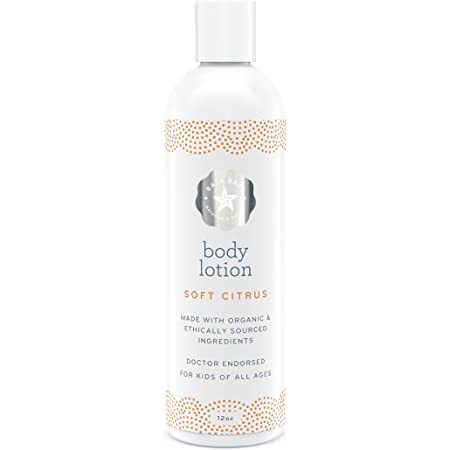 Soft Citrus All Natural Baby Lotion - EWG Verified - Body Lotion with No Chemicals - 12 Fluid Ounces - No Sulfates, Parabens or Phosphates