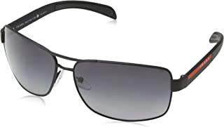 Prada Linea Rossa Men's 0PS 54IS Black Rubber/Grey Polarized