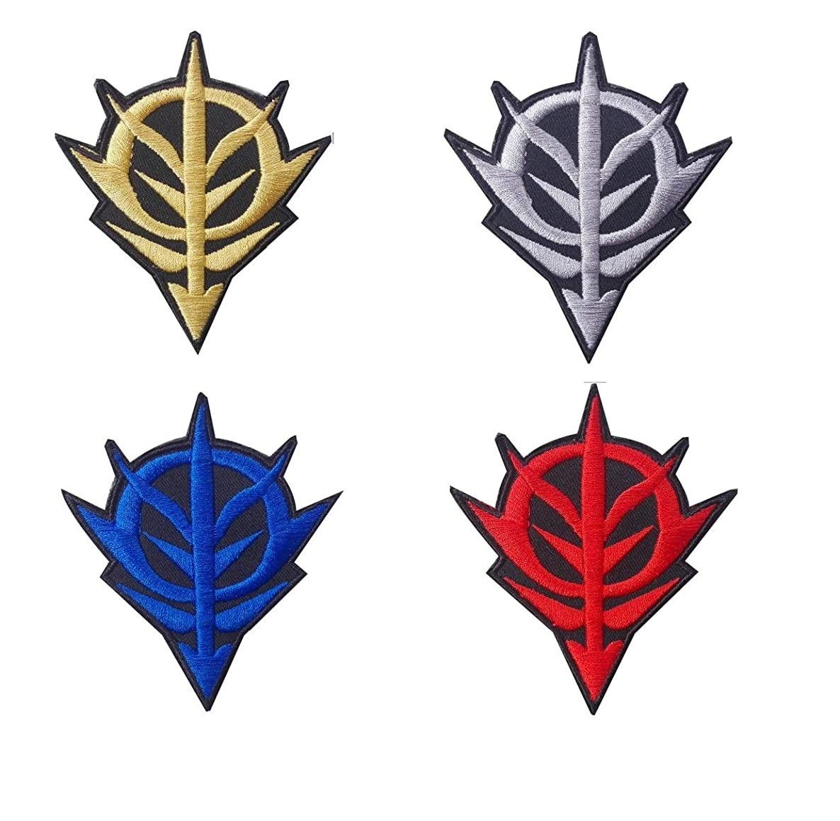 Gundam Zeon Logo Military Tactical Morale Embroidery Morale Patch Hook Backing (Gray)