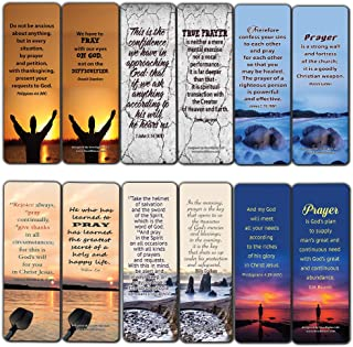 Prayer Cards Bookmarks (60-Pack)- Popular Bible Verses and Inspirational Quotes About Prayers - Holy Scriptures to Encourage Men Women Teens Boys Girls Kids