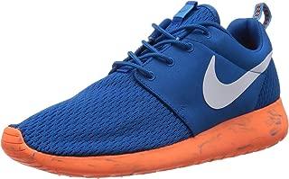 Mens Rosherun Running Shoes Military Blue/White/Total Orange 669985-400 Size 12