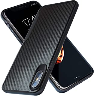 iPhone X Case | iPhone Xs Case | 10ft. Drop Tested | Carbon Case | Ultra Slim | Lightweight | Scratch Resistant | Wireless Charging | Compatible with Apple iPhone X /iPhone Xs - Black