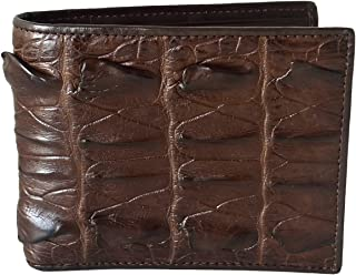 Men's Bifold Crocodile Big Tail Skin Leather Wallet