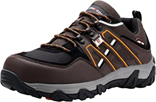 Steel Toe Shoes Men, Safety Work Reflective Strip Puncture Proof Footwear Industrial & Construction Shoe