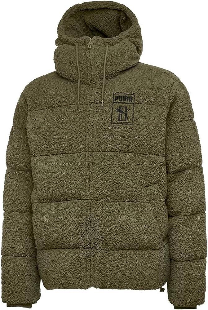 Puma Mens Sean X Puffer Jacket Full Zip Drawstring - Green