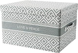 SKYXIU Boîte de rangement pliable en tissu pour la maison, boîte de rangement pour vêtements, jouets, boîte de rangement a...