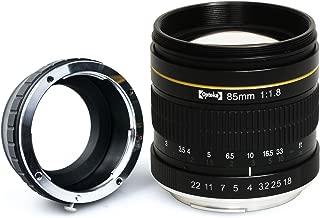 Opteka 85mm f/1.8 Manual Focus Aspherical Medium Telephoto Portrait Lens for Nikon 1 J5, J4, J3, J2, S2, S1, V3, V2, V1 and AW1 Compact Mirrorless Digital Cameras