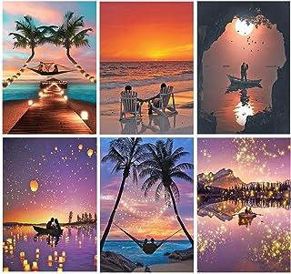 Adult 6-Piece DIY 5D Diamond Painting Set, Complete Diamond Painting, Diamond Painting Art, Wall Decoration, Scenic Ocean ...