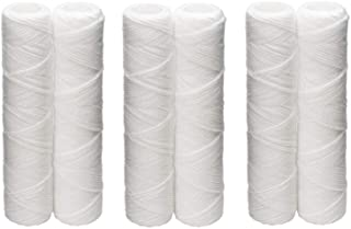 Culligan CW-F Sediment Replacement Cartridge Polypropylene Cord-Wound, 10 Micron, 12,000 Gallon Capacity, 2-Pack (3 case(2 Pack))