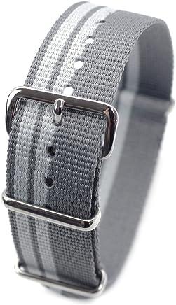 c66cd9689a1 HDT Design N.A.T.O. Short Type Nylon Watch Strap Asymmetric gray  18mm