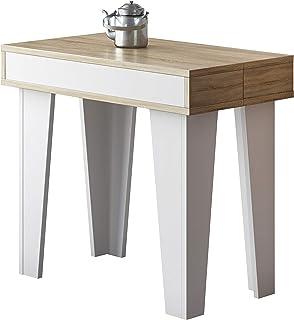 Home Innovation - Table Console Extensible, rectangulaire avec rallonges, Nordic KL jusqu'à 237 cm, Style Scandinave pour ...