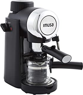 IMUSA USA 4 Cup Epic Electric Espresso/Cappuccino Maker, Black