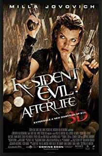 Resident Evil Afterlife 3D Milla Jovovich Horror Movie Film Poster Print 24x36