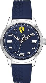 Ferrari Men's Blue Dial Rubber Band Watch - 840020