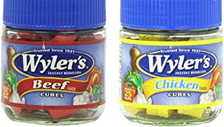 Wyler's Bouillon Cubes Combo Pack - One Beef Flavor 3.25 oz. & One Chicken Flavor 3.25 oz.