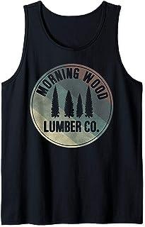 Morning Wood Slogan Gag Lumberjack Lumber Logger Christmas Tank Top