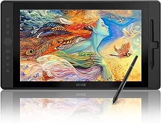 VEIKK VK1560 15.6インチフルHD IPSグラフィックスディスプレイタブレット、8192レベルのバッテリフリーペンスタイラス