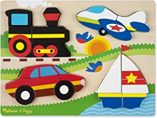 Melissa & Doug Vehicles Wooden Chunky Jigsaw Puzzle (20 pcs)