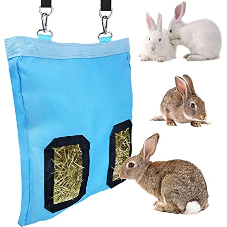 GABraden Rabbit Guinea Pig Hay Feeder Bag,Small Animals Hay Feeder Storage,Used for Small Animals 1200D Nylon Hay Bag (1)