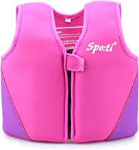 Genwiss Swim Vest for Kids Baby Swim Jacket for Toddler Kids Age 18 Months - 8 Years
