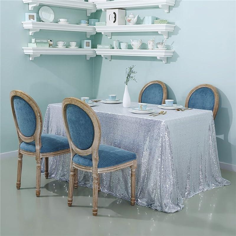 Zdada Sequin Tablecloth Rectangular 90 X132 Silver