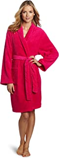 Seven Apparel Hotel Spa Collection Herringbone Textured Plush Robe, Bright Fuchsia Pink