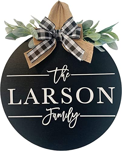 """lowest Welcome Sign for Front Door Housewarming Sign Larson Front Door sale Round online Wood Sign Hanging Welcome Sign Farmhouse Porch Spring Welcome Sign Wreath Decoration with Bow, 12"""" online sale"""