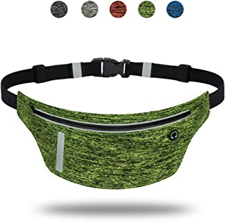 AIWENSI Ultra Slim Running Belt, Daily Water-Resistant Waist Pack for iPhone X 8 7 6 Plus, Men Women Runner Fitness Belts Fanny Pack for Samsung Galaxy Note 8 S8+ S9 Plus Google 2XL Moto