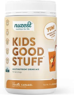 Nuzest Kids Good Stuff - Multivitamin Drink, Vanilla Caramel, 15 Servings, 7.9 oz