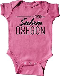 inktastic from Salem Oregon in Black Distressed Text Infant Creeper