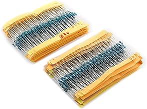 600 pz 30 valori 1/% 1//4W Film resistori Mix resistenza assortimento Kit in metal