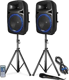 "Pack sonorisation - LED/FM/USB/SD/BLUETOOTH - 15""/38cm 1000W - Ibiza Sound PKG15A-SET"