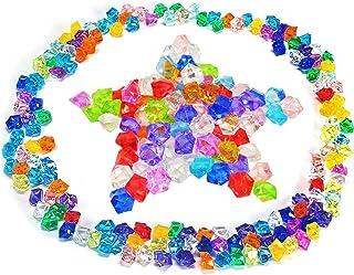 Vixker 300g 金魚鉢ビーズのカリカリSlime クリスタルクリア宝石 Ice Rocks デコレーションストーン、プラスチック 花瓶フィラー、ホーム、花瓶の充填物 結婚式、パーティー、ストアウィンドウ装飾、DIYホームMadeプロジェクト、または学校活動
