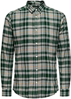 Only & Sons Onsnew Omar LS Y/D Checked Shirt Camisa para Hombre