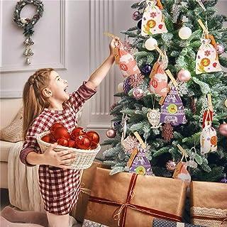 Fiaoen Bolsas De Navidad Calendario De Adviento, 24 Piezas DIY Calendario De Navidad Cuenta Regresiva Regalo De Dulces Bolsa De Lino Bolsillo Con Cordón Para Almacenar Dulces, Juguetes convenient kind