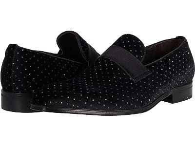 Massimo Matteo Almansa Studded Velvet Satin Strap Loafer