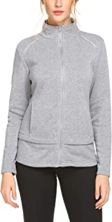 Guteer Women's Activewear Full-Zip Track Jacket Yoga Running Athletic Coat