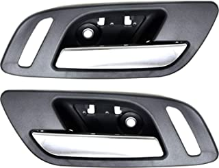 Interior Door Handle Set of 2 Compatible with CHEVROLET SILVERADO/Sierra 1500 2007-2013 Front Door Handle Right Side and Left Side Inside Chrome Lever and Black Housing