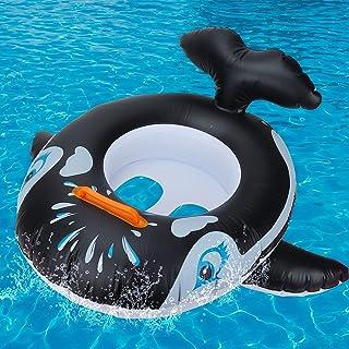 GUBOOM Salvagente Neonato Seggiolino Piscina per Bambini Giocattolo Giocattoli di aiuto al galleggiamento per bambini piccoli adatti a bambini da 6 a 36 mesi Squalo Anello da Nuoto