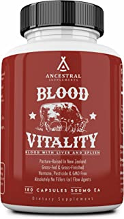 Blood Vitality is Ancestral Supplements Blood, Liver and Spleen Formula — Red & White Blood Cell Formation, Immune Functio...