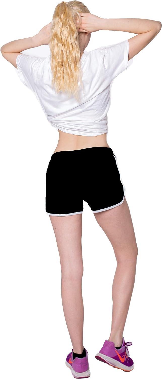 mit leichtem Figur formenden Effekt SwissWell Damen Sport Shorts Kurze Hosen Baumwolle Yoga Athletik Tanzen Shorts Fitness Hot Pants Hipster Workout