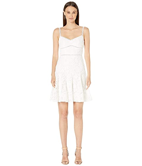 ML Monique Lhuillier Sleeveless Lace Fit and Flare Dress