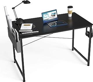HOMIDEC Bureau d'ordinateur - 100 x 60 x 75 cm - Petit bureau avec sac et support pour casque - Table de travail en bois p...