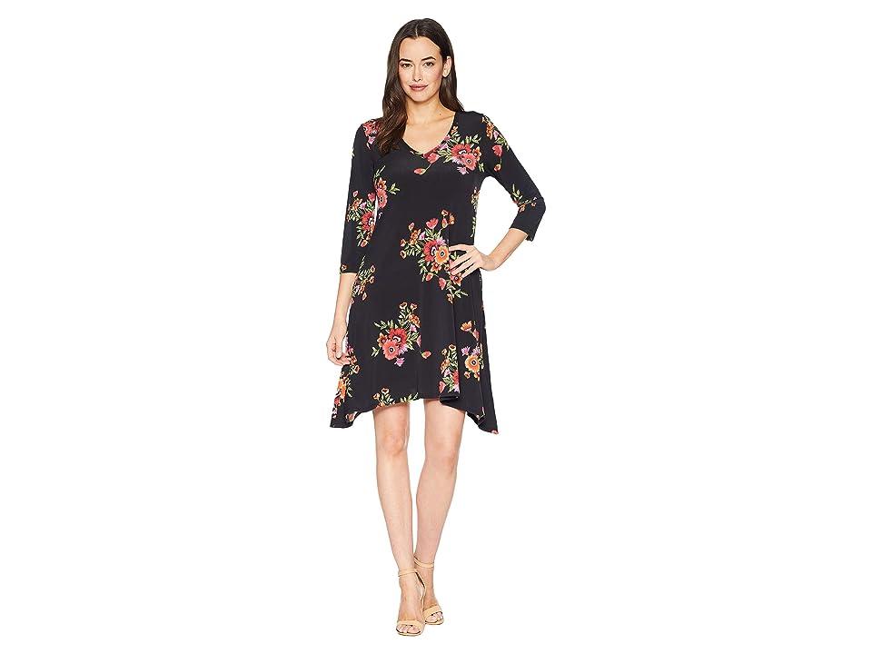 Karen Kane 3/4 Sleeve Hailey Dress (Print) Women