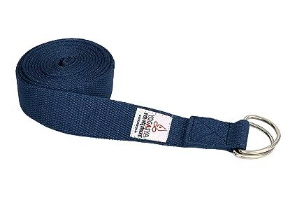 Yogasya   Yoga Belt   8 Feet Length   1.5  Width   Yoga Props   for Safe, Perfect   Challenging Yoga Posture   Blue Straps