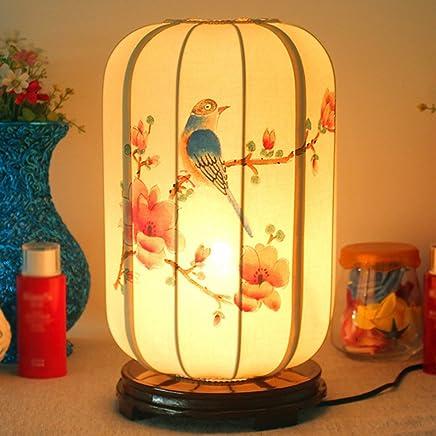 YJH+ テーブルランプチャイニーズベッドルームベッドサイドランプ研究茶屋クラブリビングルームランプ 美しく寛大な ( 色 : D )