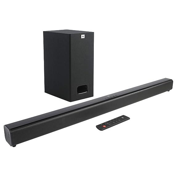 JBL Cinema SB130 by Harman 2.1 Channel Soundbar with Wired Subwoofer (110 Watts, Dolby Digital, Extra Deep Bass)